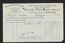 """ORLEANS (45) ARTICLES de CHASSE & CLOUTERIE """"Alfred BONNET / René MICHAU Succ"""""""