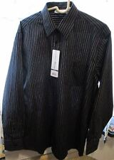 Men's Chef Works - D300-Cda-L - Onyx Dress Shirt (L) Uniform Works - Nwt Strip