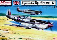 "AZ Model 1:72 Supermarine Spitfire Mk.IXc ""MTO"" Aircraft Model Kit"