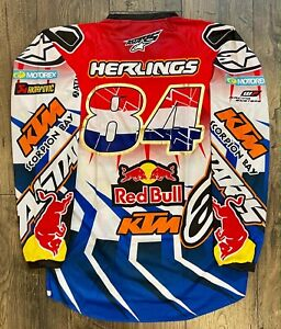 Jeffrey Herlings Red Bull KTM Red and Blue Race Jersey New Not Worn