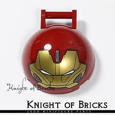 LEGO Part 18990pb02 6217075 DARK RED Ironman Hulkbuster Face 4x4x1 set 76104