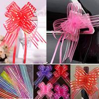 10pcs 50mm Pull Bows Wedding Party Decorations Gift Wrap Organza  Ribbon Gift