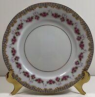 """Noritake Ridgewood China - Set Of 4 - Salad/Dessert Plates - 7 1/2"""" Pink Floral"""