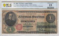 1862 $1 Legal Tender FR. 16 PCGS CF-15 Very Fine Civil War Era Scarce Note 2004