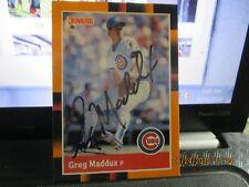 Greg Maddux HOF Autographed Baseball Card 1988 Donruss #82 Early