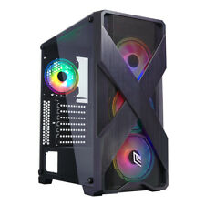 CASE ATX PC GAMING 4 VENTOLE RGB RAINBOW ADRESABLE 5V 3-PIN FRONT ABS/MESH 3 USB