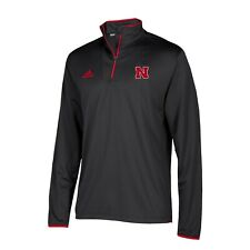 Nebraska Cornhuskers NCAA Adidas Men's 2018 Sideline Black Long Sleeve Knit