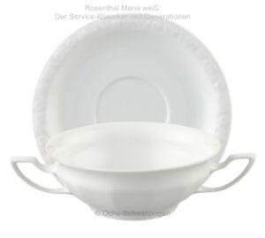 Rosenthal Maria weiß: Suppentasse mit Untere  2 teilig.