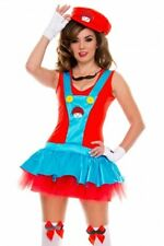 size 12,14 SUPER MARIO fancy dress costume LADIES mario costume WOMENS CARTOON