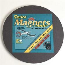 "Darice Adhesive Magnetic Tape Roll 1/2"" x 100' Magnet Strip Home or School"