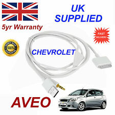 CHEVROLET AVEO OX0467904 3GS 4 4S iPhone iPod USB & Aux Audio Cable white