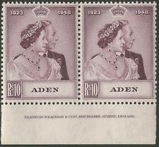 Aden 1948 Royal Silver Wedding SG30-31 Pair with Inscription Mint Never Hinged