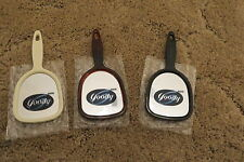 "Goody 6"" Hand Mirror White Brown & Black Lot of 3 pcs (Mirror is 2-3/4"" x 2-3/8"""