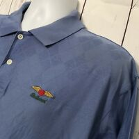 "Nautica Men's ""Baltusrol"" Blue Polo Golf Shirt ""Sz Large"" Short Sleeve Argyle"