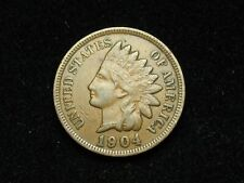 SUMMER SALE!! XF 1904 INDIAN HEAD CENT PENNY w/ DIAMONDS & FULL LIBERTY #51x