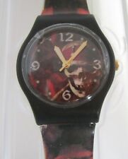 Official Disney PIRATES OF THE CARIBBEAN Watch BLACK SKULL IN CASE BRAND NEW FRE
