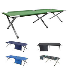 Camping Outdoor Folding Bed Travel Camp Light Aluminium Steel Legs Colorful