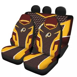 Washington Redskins 5 Seat Car Seat Cover Universal Truck Cushion Protector Gift