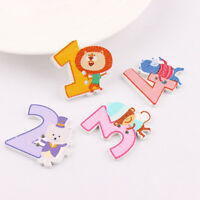 50pcs DIY Mixed Sewing Craft Wood Button   Numbers Clothes Scrapbooking Decor_