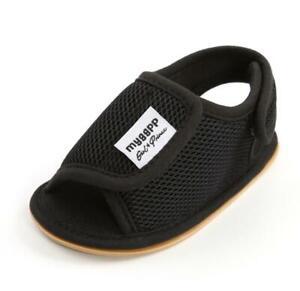 Baby Boy Girl Crib Shoes Infant Mesh Sandals PreWalker Trainers Size 3 6 9 12 18