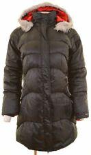 NIKE Womens Padded Coat UK 10 Small Black Polyester  AD05