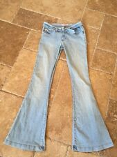 Miss Sixty RARE!!! Ellah Light Wash Flared Leg Jeans w/ Attached Belt Sz 28