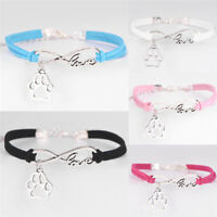 Fashion Charm Pet Dog Lover Cat Animal Bear Paw Bracelet Infinity Love BraceleIJ