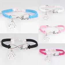 Fashion Pet Dog Lover Cat Animal Bears Paw Bracelet Infinity Love BracelZTJK.