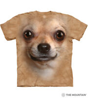 The Mountain 100% Cotton Adult Chihuahua Face Sand T-Shirt Sizes S - M - L NWT