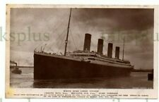 More details for old postcard white star liner titanic rotary real photo vintage 1912