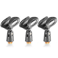 "Neewer 3-Pack Microphone Clip Holders with 5/8"" Male to 3/8"" Female Nut Adapters"