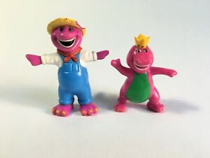 Vintage Barney The Dinosaur Figures 90s Toys