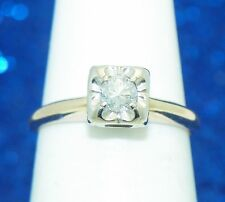 1/5ct DIAMOND SOLITAIRE ENGAGEMENT RING SOLID 14K GOLD 2.0g SIZE 5.25