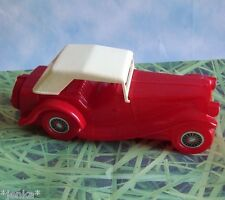 Avon 1936 MG Tai Winds Glass Red Convertible Car Bottle ~ After Shave 5 FL OZ