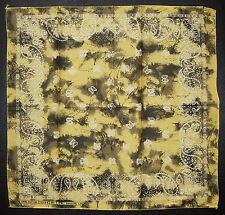 Oro Amarillo Bufanda Pañuelo Pañuelo Cabeza de patrón de Paisley Algodón Bufanda De Cuello