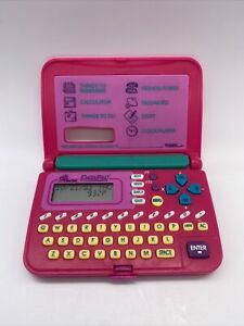 Pink Princess Data Pad - 1996 BY TIGER Toy 90's ELECTRONICS , VINTAGE WORKS!