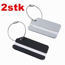 2Stück Kofferanhänger Kofferschild Adressenanhänger Gepäckanhänger aus Metall DE