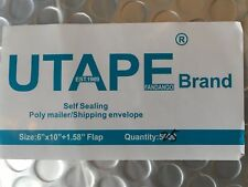 10 UTAPE® POLY BUBBLE MAILER PADDED ENVELOPES BUBBLE SHIPPING BAG 6X10 SILVER