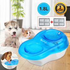 Automatic Electric 1.8L Pet Dog Cat Water Fountain Drinking Bowl Dish Dispenser