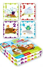 kids ANIMAL CARDS Trump Game in tin kids LEARN Numbers & Play Toy nursery 3+