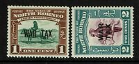 North Borneo SG# 318 & 319 Mint Very Light Hinged - S9936