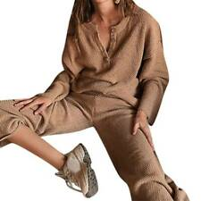 Women Ladies Casual Knitted Tracksuit Jumper Sweater Tops Pants Baggy Outfit Set