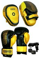 EVO MMA Boxing Gloves Focus Pads Set Muay Thai Martial Arts UFC PRO Training Bag
