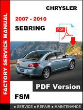 factory service repair manual ebay stores rh ebay com 2008 sebring repair manual pdf 2008 chrysler sebring repair manual
