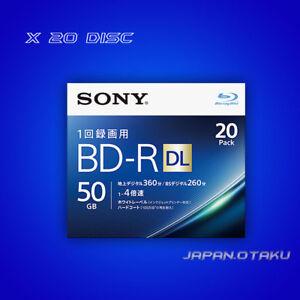20 x Disc SONY BD-R DL 50GB x4 Write Speed Blu-ray disc Dual Layer From Japan