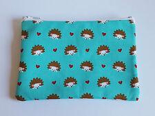 Cute Hedgehog Fabric Handmade Zippy Coin Purse Storage Pouch