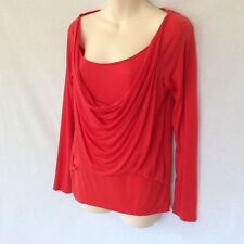 AS NEW COUNTRY ROAD TOP / BLOUSE LAYERED 100% LYOCELL BRIGHT RED s S 10 / 12