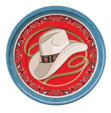 DINNER PLATE  COWBOY WAY OUT WEST BARN DANCE WESTERN THEMED PARTY TABLEWARE