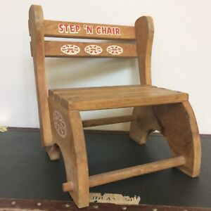 Step N Chair Child Stepstool and Convertible Chair Vintage