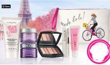 Lancome 7 PcTravel Skin Care & Makeup Set With Lancome Wristlet